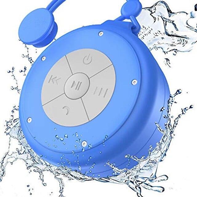 Shower Speaker Mini Wireless Waterproof Bluetooth Speaker 3w Driver Suction Cup Portable Speakerphone Built-in Mic