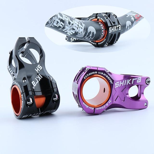 31.8 mm Gambo manubrio per bici 50 mm Alluminio 6061 Materiali leggeri per Ciclismo Lucido