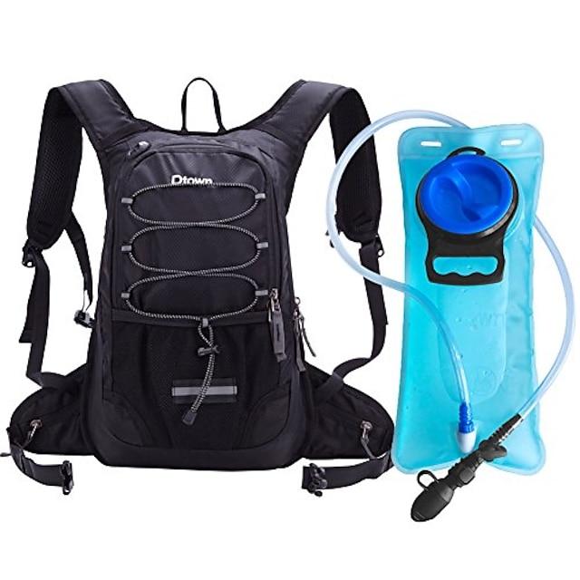 rucsac de hidratare cu vezică de apă gratuită de 2 l bpa, rucsac de apă pentru drumeții, ciclism, camping, ciclism sau alergare - păstrați lichidul rece până la 4 ore (negru)