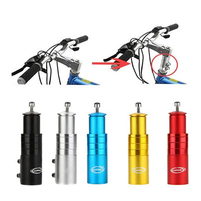 Fahrradschaft Riser Fahrradgabel Vorbau Extender Fahrrad Lenker Raiser Head-Up-Adapter geeignet für Mountainbike, Rennrad, MTB, BMX, Fixie (Aluminiumlegierung, verstellbar, schwarz)