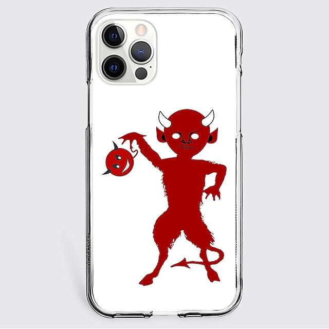 Rajzfilm Ügy Mert alma iPhone 12 iPhone 11 iPhone 12 Pro Max Egyedi tervezés Védőtok Ütésálló Fekete tok TPU