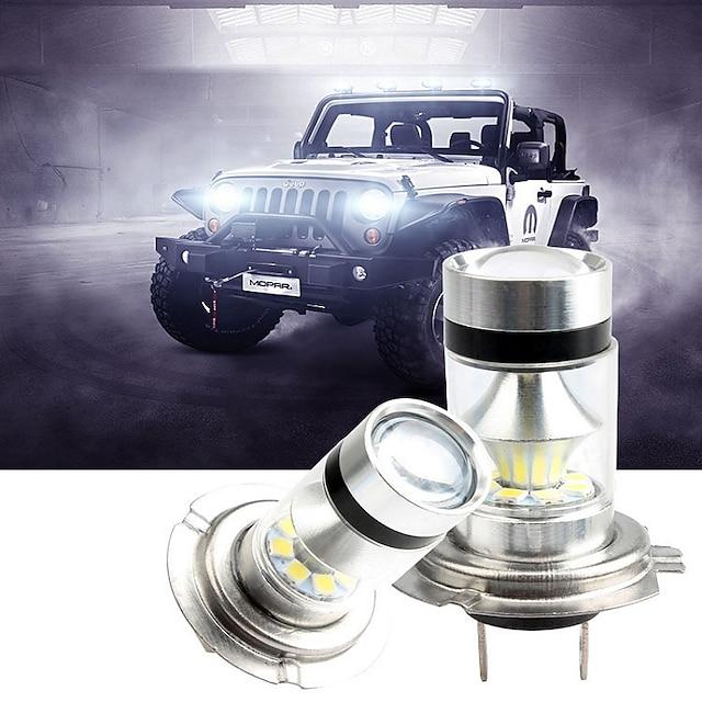 2 stks h1 / h3 / h4 / h7 / h8 / h11 / 9005/9006 led automobiles mistlamp lamp montage 100 w auto rijden lamp wit 12 v super heldere keuren high power chip