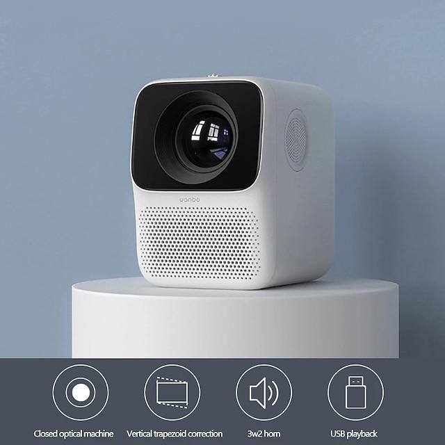 wanbo t2 proyector lcd 4k gratis ultra definición corrección trapezoidal vertical portátil home theater conveniente proyector
