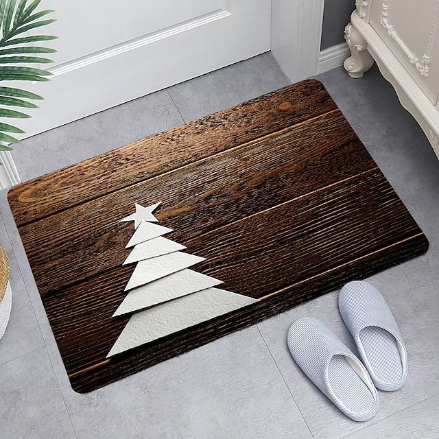 vijf-sterren boom digitaal printen vloermat moderne badmatten niet-geweven traagschuim nieuwigheid badkamer