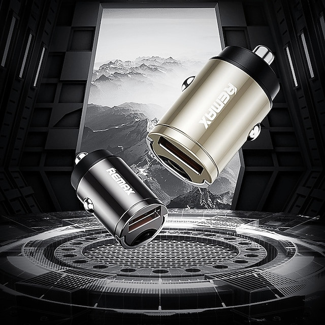 remax nieuwe lingdu qc18w snel opladen een uur volledig opladen autolader sigarettenaansteker autolader