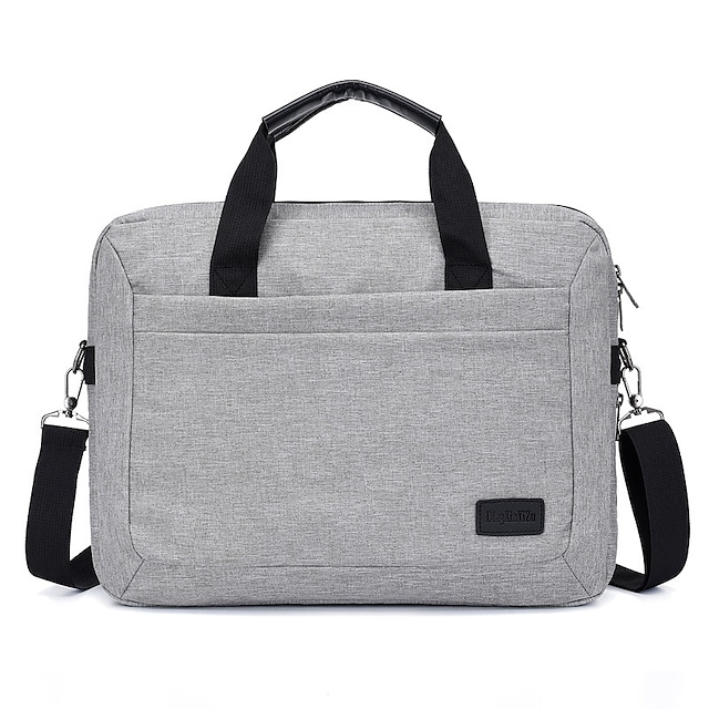 Unisex Waterproof Polyester Laptop Bag Zipper Solid Color Daily Office & Career Handbags Black Dark Blue Gray
