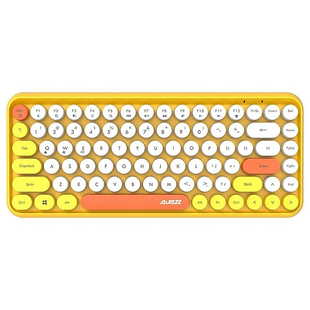 Ajazz-308i Wireless Bluetooth Keyboard 84 Classic Round Keys Auto Sleep Power Saving Windows / Ios / Android Compatible