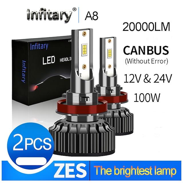 infitary 20000lm super bright canbus error free for 12v 24v h4 led h13 9004 9007 led faro de coche camión bombilla luces antiniebla lámpara