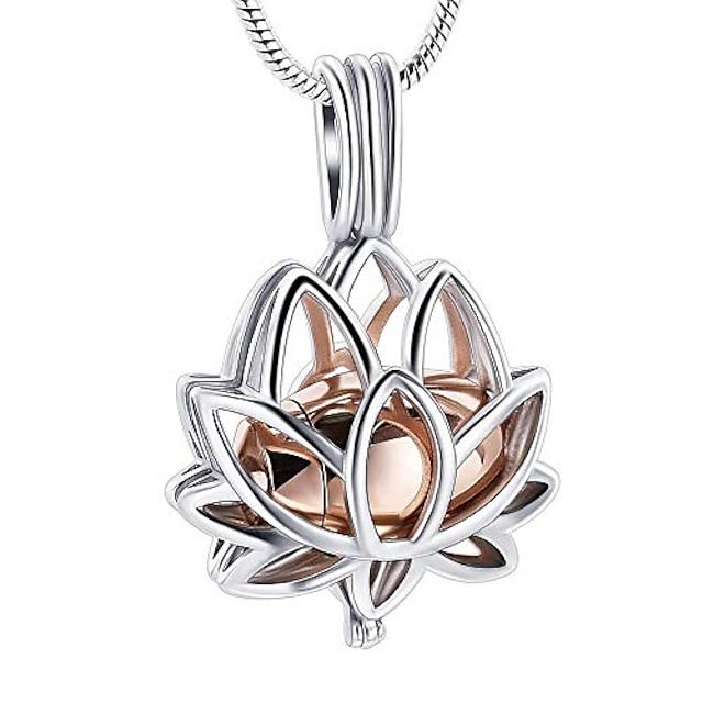 Lotusbloem crematie sieraden urn kettingen voor as, creamation urn hangers aandenken gedenkteken medaillon houder sieraden voor menselijk huisdier