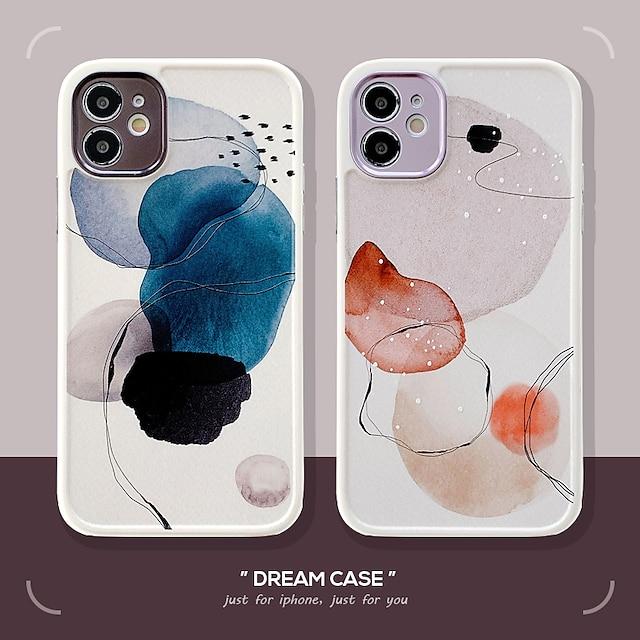 téléphone Coque Pour Apple Coque Arriere iPhone 12 Pro Max 11 SE 2020 X XR XS Max 8 7 Antichoc Formes Géométriques TPU
