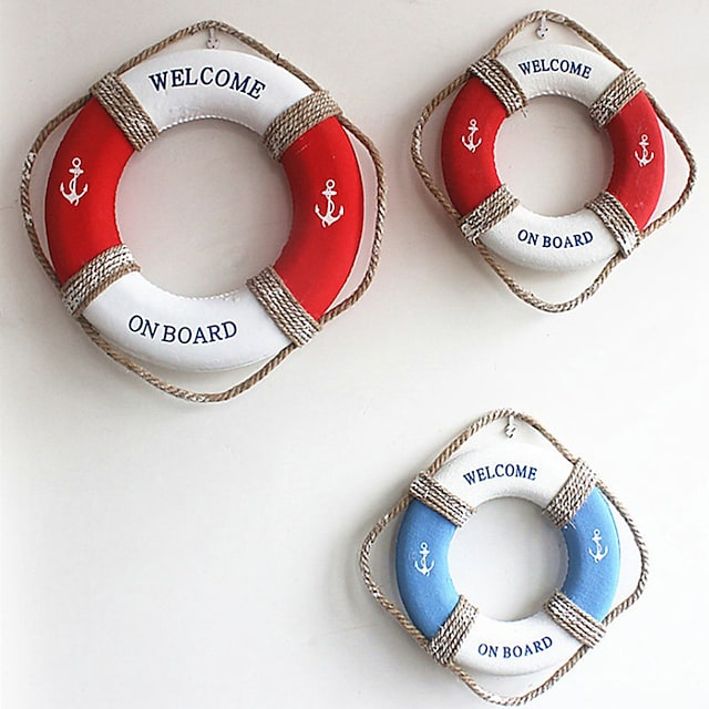 Mediterranean Retro Life Buoy Wall Decoration Accessories Foam Swimming Ring Bar Kindergarten Pendant