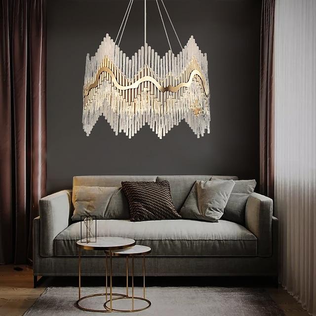 8-Light 60 cm Chandelier Crystal Crystal Electroplated LED Chic & Modern 110-120V 220-240V