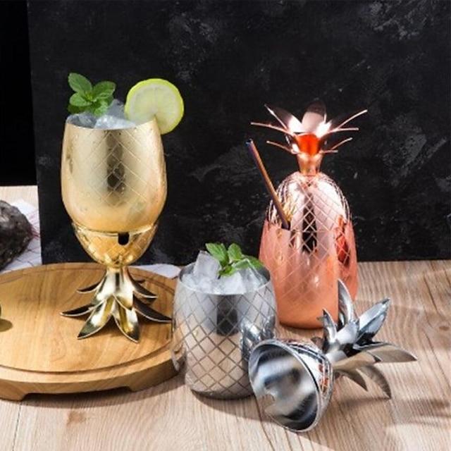 moskva muldyr ananas cocktail kopp kobber kopp 500 ml uknuselig, sprengesikker metall drikkeskuffer