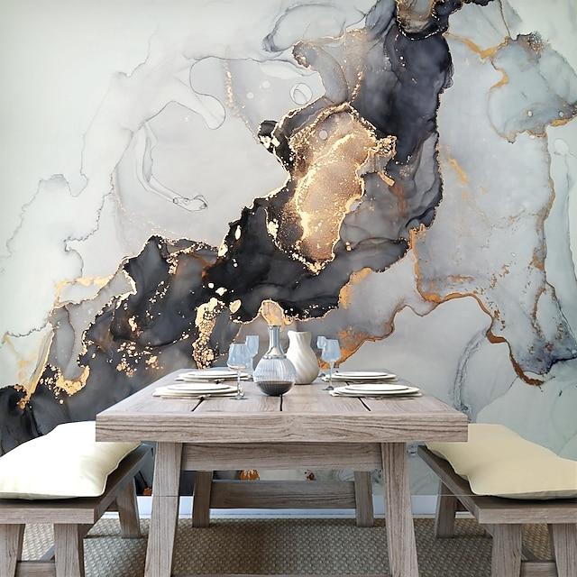 muurschildering behang muursticker bedekken print peel en stick verwijderbare goud marmer canvas home decor
