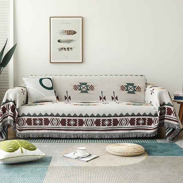 kanapéhuzat kanapé takaró geometrikus kinyomtatással kanapéhuzat kanapévédő kanapé dobóhuzat mosható karosszékhez / loveseat / 3 személyes / 4 személyes / l alakú kanapé