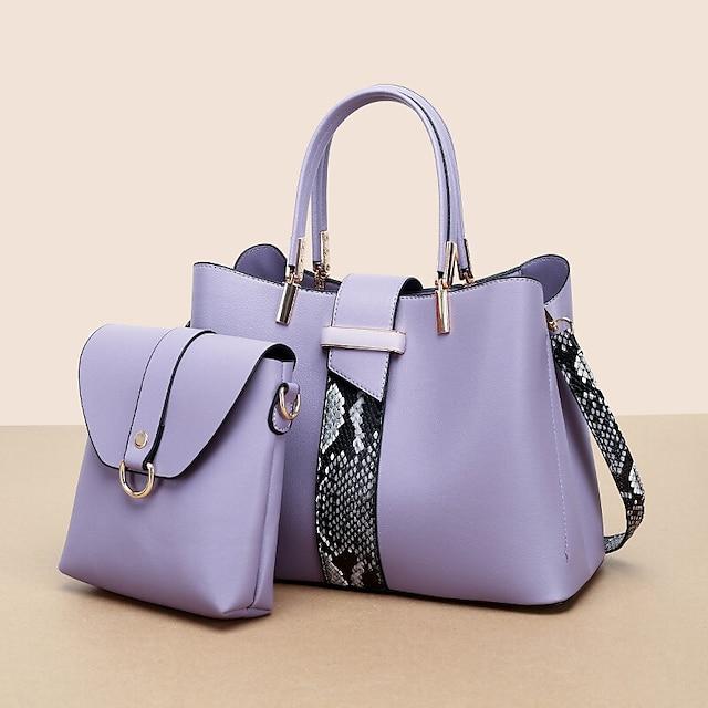 ženske 2kom pu kože modne povremene poslovne torbe na rame s više nosača torbica crossbody torba