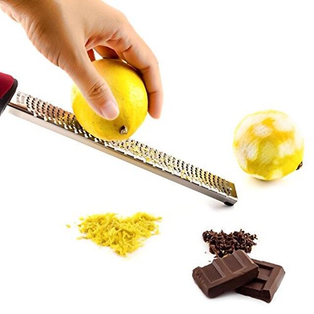 fromage chocolat citron râpe zesteur de fruits tranchant durable grattoir ensemble d'outils de cuisine en acier inoxydable