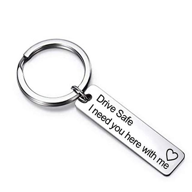 드라이브 안전 열쇠 고리 발렌타인 데이 선물 아버지의 날 생일 선물 남편 아빠 남자 친구를 위해 여기에 당신이 필요합니다