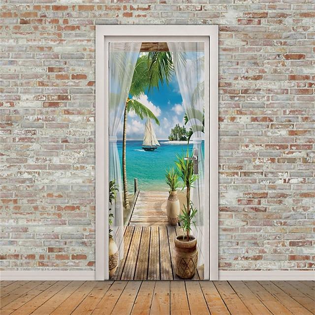 semester väggklistermärken sovrum / vardagsrum, avtagbar vinyl heminredning väggdekal 2st 30,3