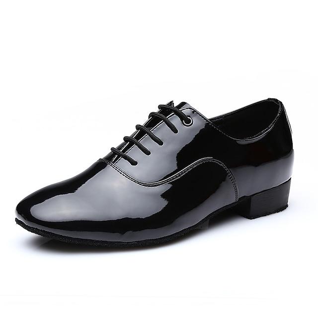 Муж. Обувь для модерна На каблуках Толстая каблук Белый Черный Шнуровка Взрослые