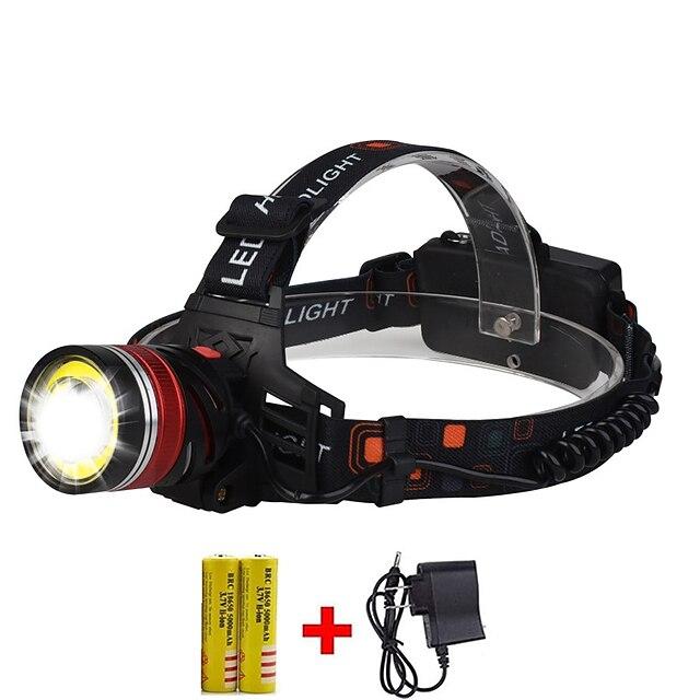 lampe frontale étanche zoomable boruit lampe de poche xml-t6 lampe frontale à led 1600 lumens avec 3 modes réglables lampe de poche mains libres pour la pêche, la chasse, la randonnée, le camping, la