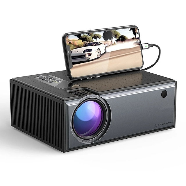 WAZA® W01-Pro LCD Projector 2800 Lumens Phone Same Screen Version Support 1080P Input Dolby Audio Wireless Portable Smart Home Theater Projector Beamer