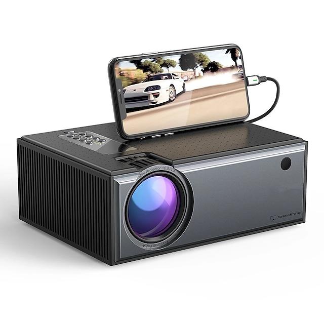 waza® w01-pro lcd-projektor 2800 lumen telefon samme skjermversjon støtte 1080p inngang dolby lyd trådløs bærbar smart hjemmekino projektor beamer