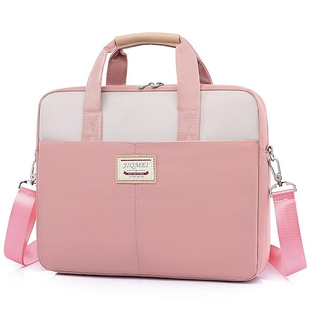Unisex Waterproof Oxford Cloth Laptop Bag Zipper Daily Office & Career Handbags Black Pink Gray