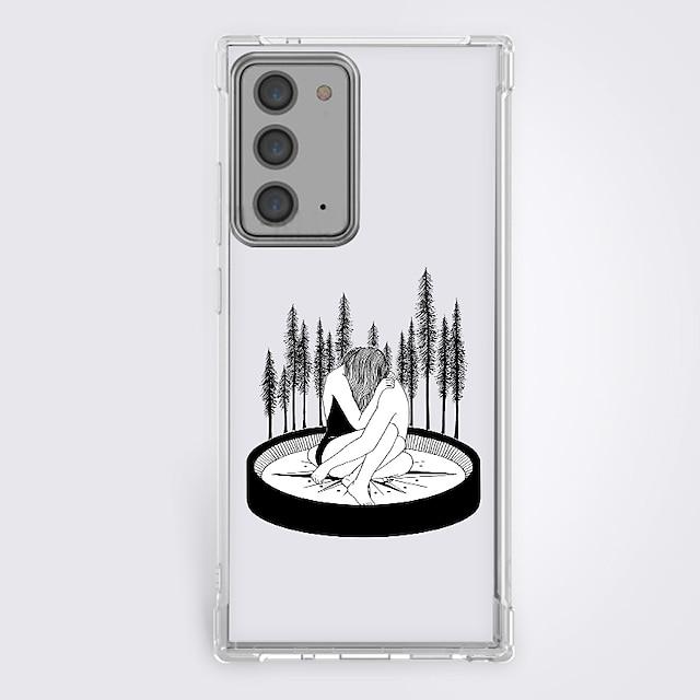 Manga Nero e bianco telefono Astuccio Per Samsung S20 Plus S20 Ultra S20 Design unico Custodia protettiva Resistente agli urti Per retro TPU