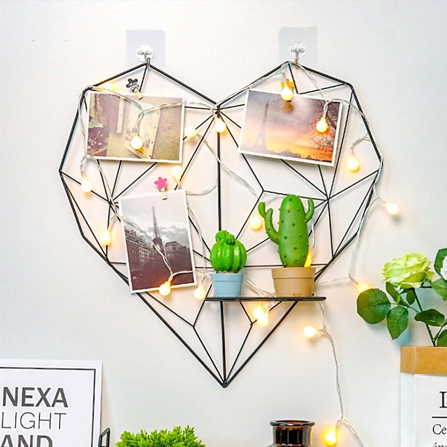 love grid photo wall home decoration wall hanging hemp rope clip grid wall hanging