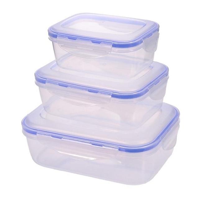 2 개 스토리지 박스 플라스틱 항아리 & 상자 일상복 500 ml 부엌 저장