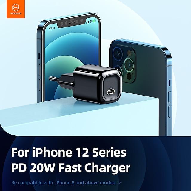20 W انتاج الطاقة USB C شاحن PD شاحن سريع شاحن الجوال شاحن متنقل شاحن الجدار المحمول شحن سريع 3C من أجل شاومي مي HUAWEI Apple iPhone 12 11 pro SE X XS XR 8 Samsung Glaxy S21 Ultra S20 Plus S10 Note20