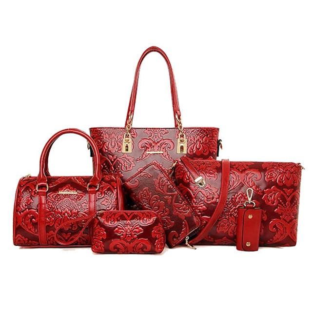dames 6 stuks reteo vintage reliëf tassen in etnische stijl