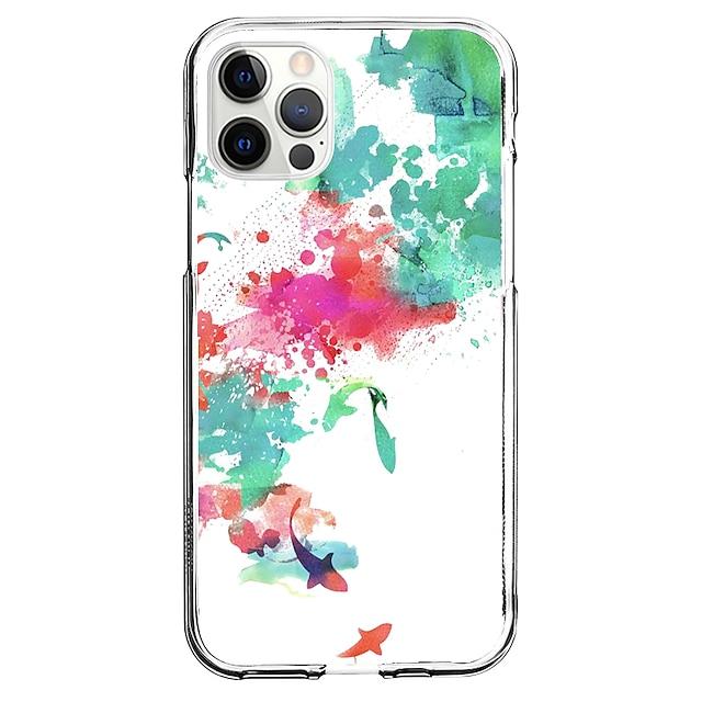 Varjostus Asia Sillä Omena iPhone 12 iPhone 11 iPhone 12 Pro Max Ainutlaatuinen muotoilu Suojakotelo Iskunkestävä Kuvio Takakuori TPU