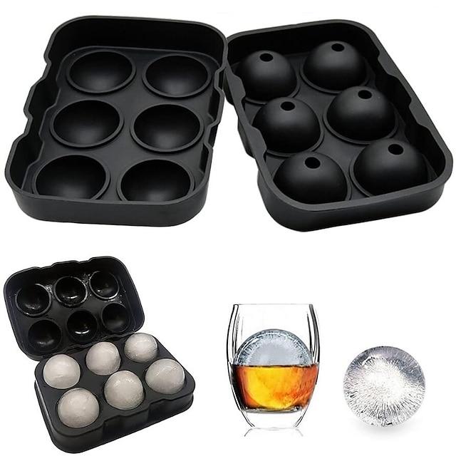 6 boules fabricant de bac à glaçons moule en silicone fermeture étanche bac à glaçons en silicone