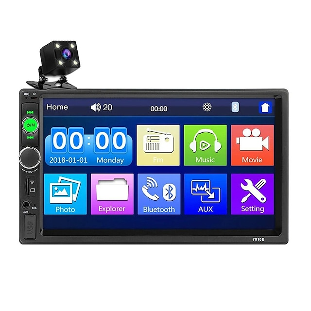 oukoo 7010b 7 inch car mp5 player راديو ستيريو 2din fm usb aux hd bluetooth touch screen with backup camera