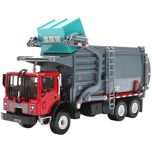 KDW 1:24 Métallique Plastique ABS Tombereau Camion de recyclage des ordures Véhicule de construction de camion jouet Rétractable Camion Garçon Fille Enfant Jouets de voiture / 14 ans et +