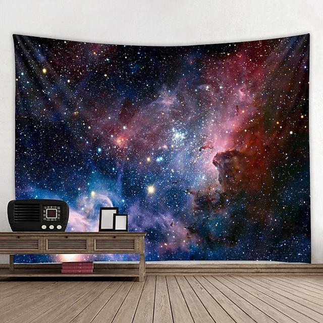 벽 태피스트리 아트 장식 담요 커튼 매달려 홈 침실 거실 장식과 하늘 / 은하와 판타지