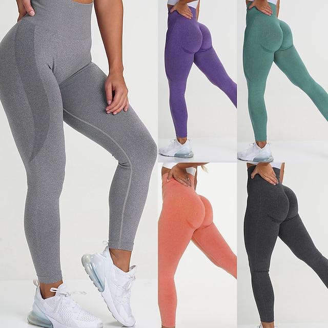 kalhoty na jógu s vysokým pasem pro ženy fitness legíny tělocvična cvičení punčocháče bezešvé úzké kalhoty (BK-S) černé