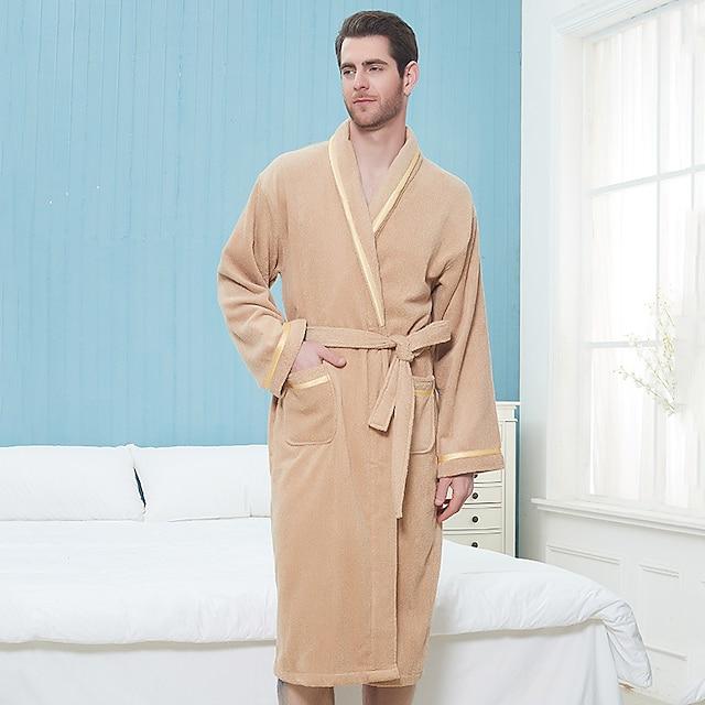 vrhunska kvaliteta uniseks ogrtač za kupanje, kava / žuta / bijela / ružičasta / plava čista pamuk prozračna dugih rukava jednobojna spavaćica ugodna ljeti