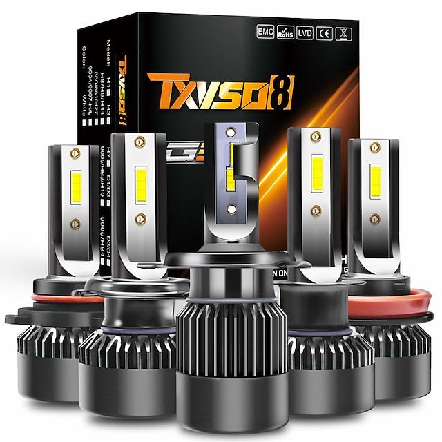 TXVSO8 Bil LED Hovedlygte Elpærer 15000 lm 100 W 2 Til Universel Alle år 2stk