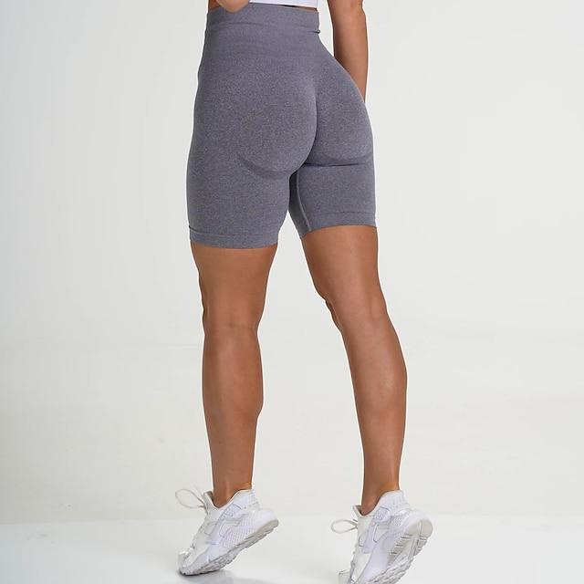 Women's High Waist Yoga Shorts Shorts Tummy Control Butt Lift Purple Yellow Dark Purple Nylon Spandex Yoga Fitness Gym Workout Summer Sports Activewear Stretchy Skinny / Athletic / Athleisure