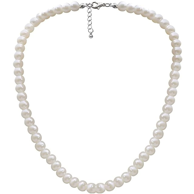 Women's Pearl Beaded Necklace Pearl Necklace Ladies Pearl Imitation Pearl Ivory Necklace Jewelry For Wedding Party Casual Daily