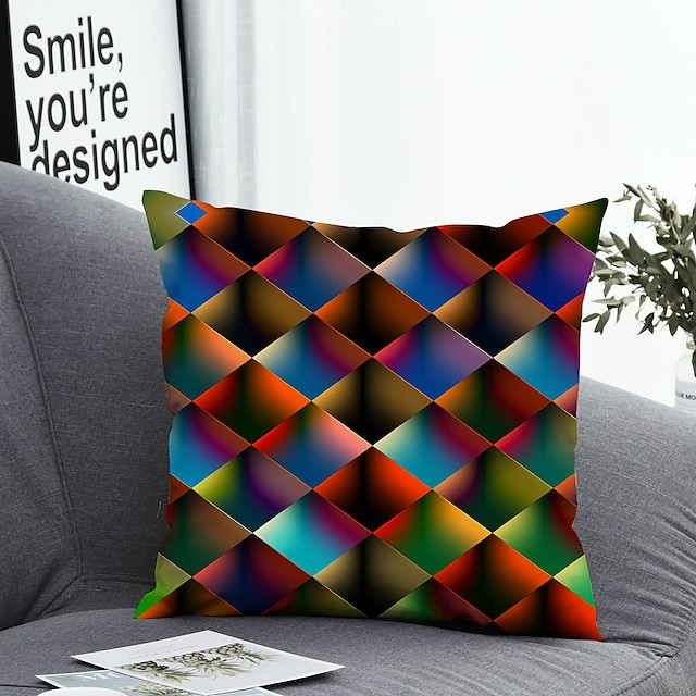 1 pcs Polyester Pillow Cover Pillow Cover & Insert Simple Classic Square Zipper Polyester Traditional Classic