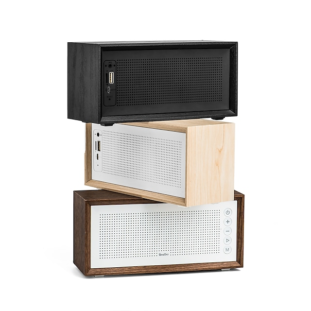 Dealfreez Onder V2 Wooden Bluetooth Speaker with FM USB TF Card with Mic for Calling 10W Speaker with 1500 Mah Battery