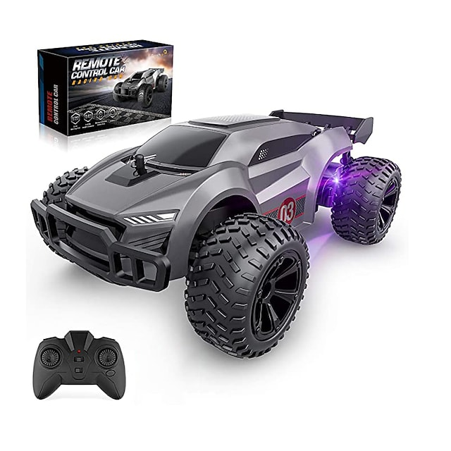 Remote Control Car - 2.4GHz High Speed Rc Cars, Offroad Hobby Rc Racing Car with Colorful Led Lights and Rechargeable Battery,Electric Toy Car Gift for 3 4 5 6 7 8 Year Old Boys Girls Kids