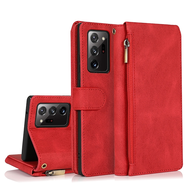τηλέφωνο tok Για Samsung Galaxy Πλήρης Θήκη Δερμάτινη θήκη Θήκη κάρτας πορτοφολιού S21 S21 Plus S21 Ultra S20 S20 Plus S20 ultra S20 FE 5G S9 S9 Plus Note 20 Ultra