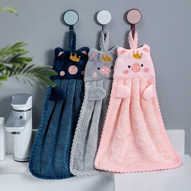 Overlegen kvalitet Vaskehåndklæde, Blomstret / Tegneserie / Dyr 100% Koral Fleece Badeværelse 1 pcs