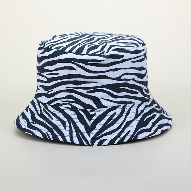 Adults' Sun Hat Bucket Hat Packable Quick Dry Breathable Spring, Fall, Winter, Summer Cotton Hat for Athleisure Fishing Camping & Hiking / Animal / Zebra