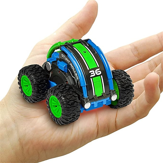 Stunt Roller Mini Remote Control Car for Kids - Fast Mini Stunt RC Car, RC Toy Car 360 Flips, Tricks, and Spins with All-Terrain Tires and 2.4GHz Remote Control